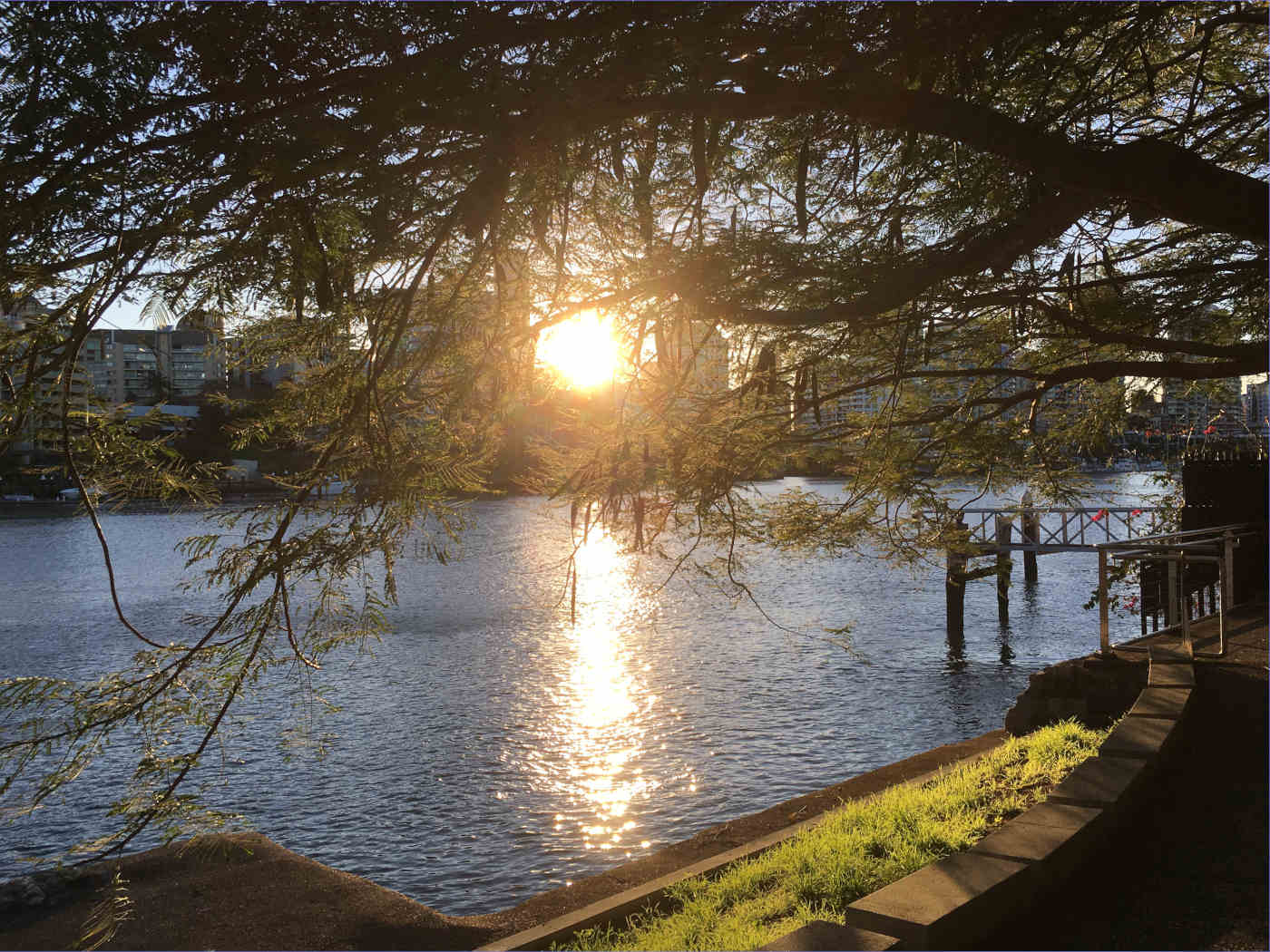 Brisbane River at sunset by Kerrie Redgate