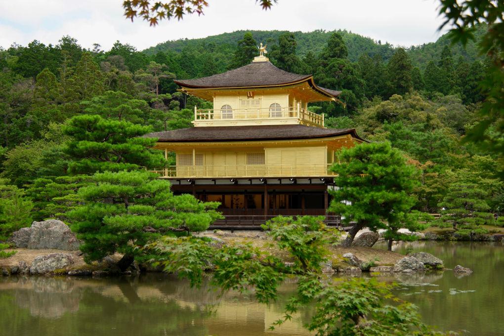Golden Zen Buddhist Temple Kyoto Japan photo by Matt Briney